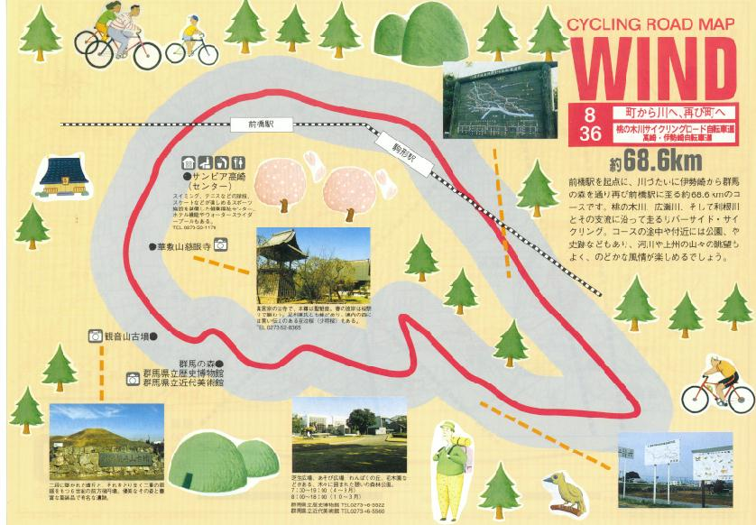 自転車道 荒川自転車道 : ... 高崎・伊勢崎自転車道/群馬68.6K